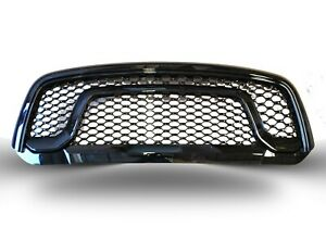 Honeycomb Mesh Grille For 2013 2018 Dodge Ram 1500 Gloss Black Rebel Style