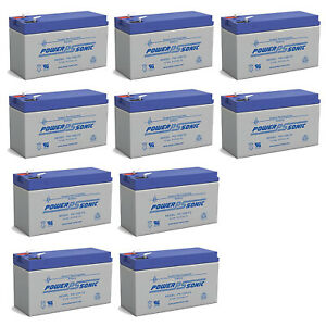Power-Sonic 12V 9AH Battery Replaces Lowrance Portable Fish finder - 10 Pack