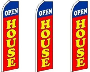 Open House red King Size Swooper Flag Pack Of 3 hardware Not Included