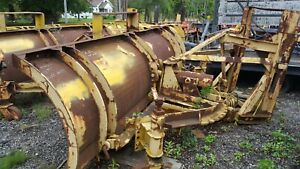 10 Ft Gledhill Snow Plow Snowplow Power Angle 29 Husting Hitch Turn 35