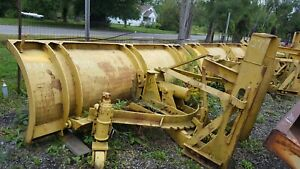 10 Ft Gledhill Snow Plow Snowplow Power Angle 29 Husting Hitch Turn 37