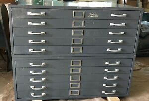 Vintage 10 drawer Metal File Cabinet For Office home Plans maps other Storage