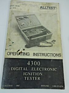 Alltest Model 4300 Digital Electronic Ignition Tester Operating Instructions