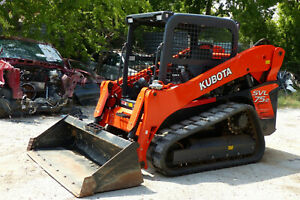2019 Kubota Svl75 2 Skid Steer Rubber Track Loader Only 158 Hours