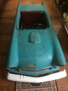 1955 1956 Original Thunderbird Junior Electric Child s Car W Restoration Parts