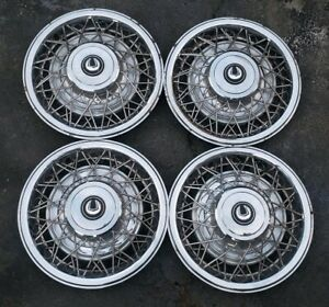Rare Set Of 4 Norris Dycrest Accessory 14 Wire Spoke Hubcaps Wheel Covers 23322