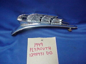 1949 Plymouth Ship Clipper Hood Ornament Chrome Part 1298931 Dg