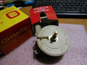 Ohmite Variable Resistor Rks16r Nsn 5905 00 461 3187 0447 16 Ohm 2 5a 100w