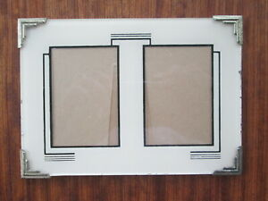 Art Deco Double Picture Frame 7 In X 5 In Each Opening 3 In X 2 In