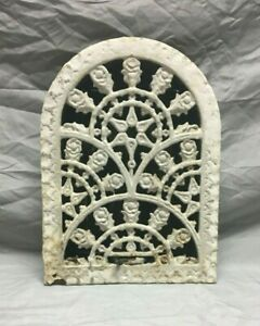 Antique Arched Top Heat Grate Wall Register Floral 8 X 12 Arch 198 19j