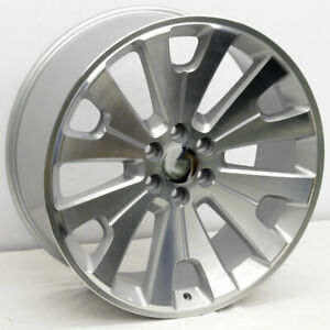 22 Silver Cnc Face Ltz Concave Style Wheels 22x9 6x139 7 24mm Gmc Denali Chevy