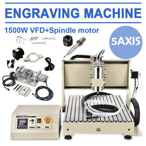 Usb 5 Axis Cnc 6040z Router Engraver 1 5kw 3d Cutter Milling Machine Handwheel
