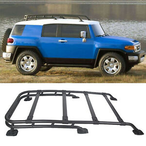 For 07 14 Toyota Fj Cruiser Factory Style Black Aluminum Roof Rack Top Cargo