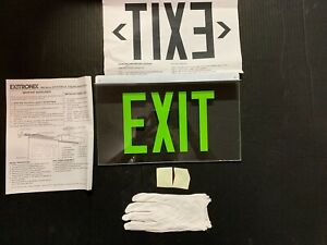 Exitronix 900 Series Glass Exit Sign Ex 902ulbgcxxba