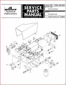 Miller Millermatic 30e Feeder Service Parts Manual Eff With 72 644025