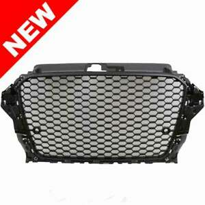 2015 2016 Audi A3 Rs3 Style Mesh Grille Badgeless W parking Sensor Gloss Black
