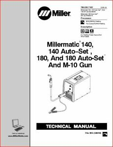 Millermatic 140 180 As Technical Manual Eff With Lg320643 lh440001n