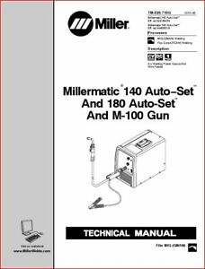 Millermatic 140 180 Autoset Technical Manual Eff With Lg320643 lh440001n