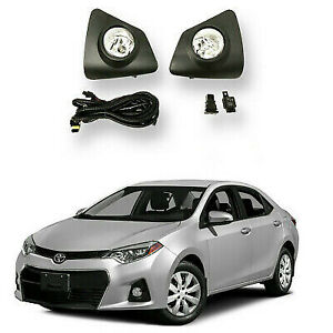 For 2014 2015 2016 Toyota Corolla S Se Fog Lights Set Lamps Bulbs Harness Switch