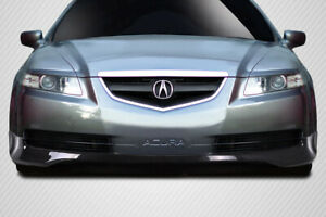 04 06 Acura Tl Aspec Look Carbon Fiber Front Bumper Lip Body Kit 115428