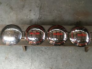 Desoto Custom Dog Dish Hubcaps Used 1946 1947 1948 Set Of 4