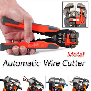 Self adjusting Wire Cutter Stripper Plier Electrical Cable Crimper Terminal Tool