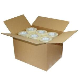 36 Rolls Clear 2 Mil Carton Sealing Shipping Box Packing Tape 1 9 In X 110 Yards