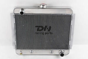 New 3 Rows Aluminum Radiator Fit 1962 63 64 65 66 67 Chevy Nova Ii V8 Engines