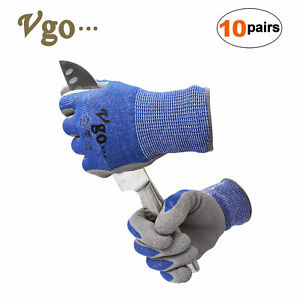Vgo 10pairs Ansi Level 3 Cut Resistant Gloves work Gloves construction rb2148hy