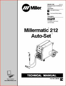 Millermatic 212 Auto Set Technical Manual Eff With Lj180755b