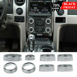 Aluminum Ac Radio Switch Release Mirrors 4wd Knob Ring Trim For Ford F150 201314