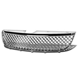 Fits 1997 1999 Chevy Malibu Chrome Abs Mesh Style Front Upper Replacement Grille