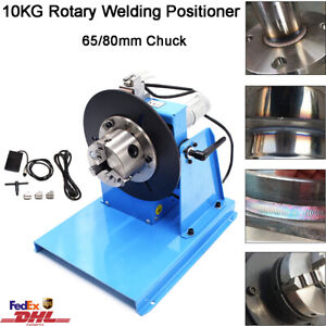 10kg Rotary Welding Positioner 0 90 Weld Turntable Table 65mm 80mm 3 Jaw Chuck