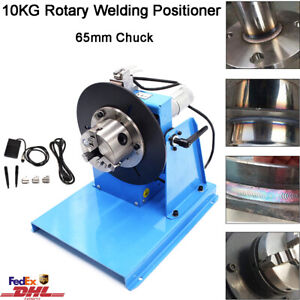 Rotary Welding Positioner 10kg Turntable Table 2 5 3 Jaw Lathe Chuck 2