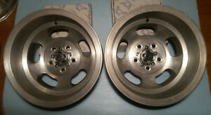 used Pair Vintage Ansen Mag Wheels 15x10 Chevy Gm 5x4 75 With Caps New Screws