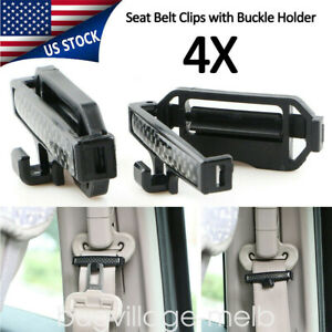 4x Car Seat Belt Clip Locking Stopper Shoulder Comfort Safe Clamp Strap Adjuster