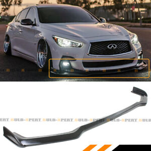 For 2018 19 Infiniti Q50 Sport Winglet Design Front Bumper Lip Spoiler Splitter