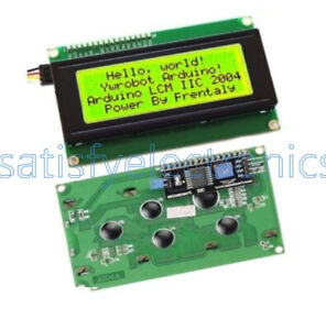 Iic i2c twi sp i Serial Interface 2004 Character Yellow Lcd Module Backlights
