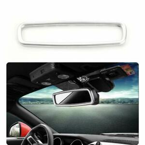 Car Interior Rearview Mirror Trim Ring Cover For Ford F150 2009 2014 Silver Abs