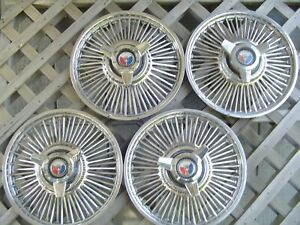 Vintage 1965 1966 1967 Ford Mustang Fairlane Spinner Hubcaps Wheel Covers