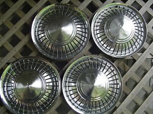 Vintage International Pickup Truck Scout Hubcaps Center Caps Wheel Covers 4 4