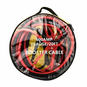 Heavy Duty 20 Ft 4 Gauge Booster Cables Jumping Cable Power Emergency Car Jumper