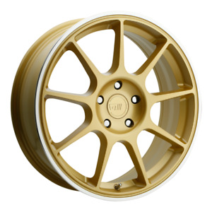 Set 4 18x8 38 5x112 Motegi Racing Mr138 Gold Wheels rims 18 Inch 60778
