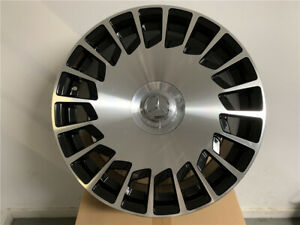 19 Staggered Maybach Style Black Wheels Rims Fits Mercedes Benz S Class
