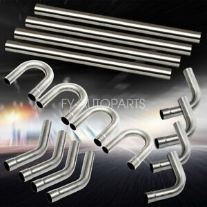16pcs 2 5 od Steel Diy Custom Mandrel Exhaust Tubing Pipe Straight Bend Kit