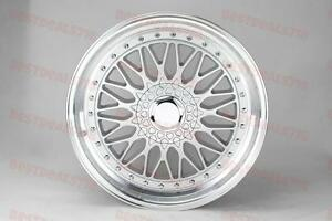 19 Staggered Silver Lip Rs Style Rims Fits Bmw 323 320 325 328 330 335 5x120