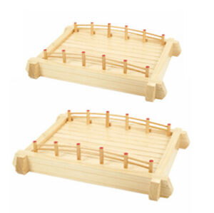 Japanese Restaurant Wooden Sashimi Sushi Bridge Plate Serving Tray 17in Or 22in