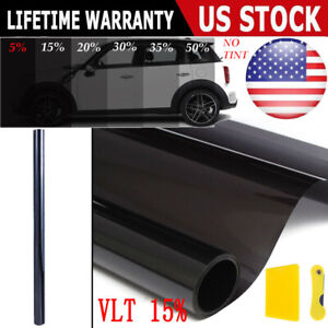 Uncut Window Tint Roll 15 vlt 20 10ft Feet Home Commercial Office Auto Film New
