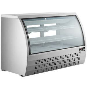 New Xiltek 65 Deli Case Display Case Show Case All Stainless Curved Glass Led