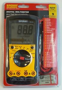 Sperry Instruments Dm6450 Digital Multimeter Auto Range 9 Function Tester New